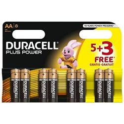 8x Duracell Plus Power AA Alkaline Batteries 1.5V MN1500 LR6 Long Life Exp.2025