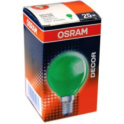 Green Round Light Bulb 25W 240V SES E14 Golf Ball 45mm