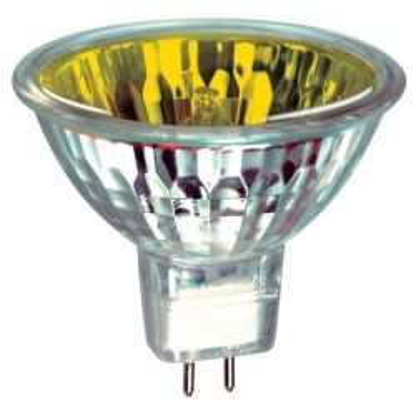 Prolite MR16 True Colour Dichroic Yellow 12V 50W Halogen Spot Lamp, 60 degree beam