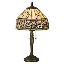 Interiors 1900 T046SH30-T046TSB Tiffany Ashtead Small Table Lamp