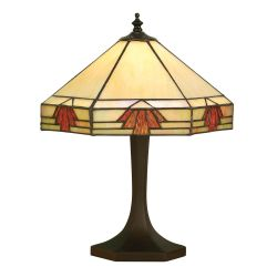Interiors 1900 TM16/S-DB575S Tiffany Nevada Small Table Lamp