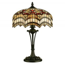 Interiors 1900 TG67SHM-TB10M Tiffany Vesta Small Table Lamp