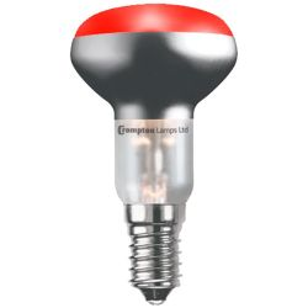Crompton 25W 240V SES/E14 R50 Red Reflector Spot Lamp