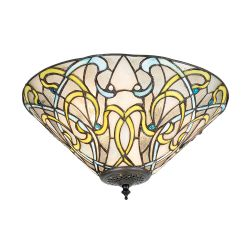 Interiors 1900 T023SH40-FL1 Tiffany Dauphine Medium 2Lt Flush Light