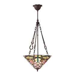 Interiors 1900 T022SH40-SU3FC Tiffany Ashton Medium Inverted 3Lt Pendant