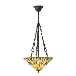 Interiors 1900 T095SH40-SU3FC Tiffany Jamelia Medium Inverted 3Lt Pendant
