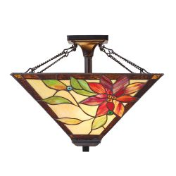 Interiors 1900 TG103SHM-SFSQ Tiffany Lelani Medium 2Lt Semi Flush Light