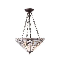 Interiors 1900 TM25M-SU3C/ADJ Tiffany Metropolitan Medium Inverted 3Lt Pendant
