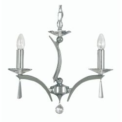 Wroxton Chrome 3 Light Ceiling Pendant