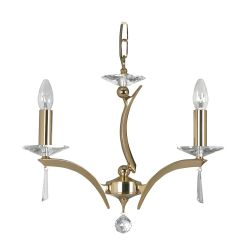 Wroxton Gold 3 Light Ceiling Pendant (Display Model)