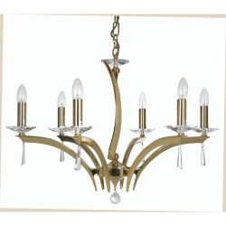 Wroxton Antique Brass 6 Light Ceiling Pendant (see second image for finish)