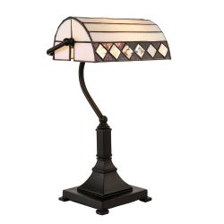 Interiors 1900 70296-70295 Tiffany Fargo Bankers Table Lamp