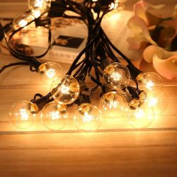40mm Round E12 7W Clear Light Bulb for String Lights