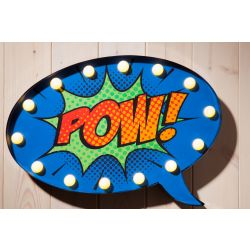 Comic Style Wall Sign - Speech Bubble POW! (DISPLAY MODEL ONLY)