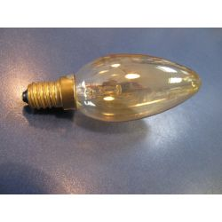 Philips 25W 230V SES E14 Gold Deco 35mm Candle Light Bulb