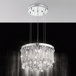 Eglo 93425 CALAONDA G9-ECO Crystal Stainless Steel Ceiling Pendant
