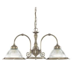 Searchlight 9343-3 American Diner Ceiling Light