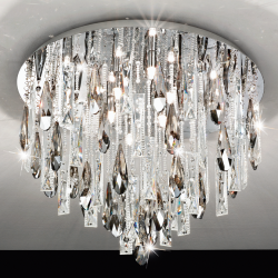 Eglo 93433 CALAONDA G9-ECO Crystal Chrome Ceiling Lights