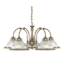 Searchlight 9345-5 American Diner Ceiling Light