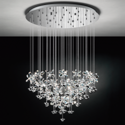 Eglo 93661 PIANOPOLI LED Cluster Crystal Chrome Ceiling Pendant