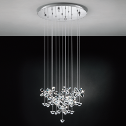 Eglo 93662 PIANOPOLI LED Cluster Crystal Clear Ceiling Pendant