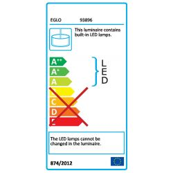 Eglo 93896 PELLARO LED Aluminium Single Ceiling Pendant