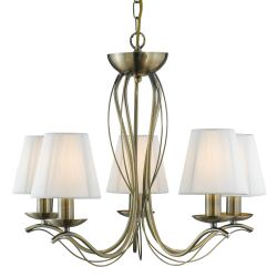 Searchlight 9825-5AB Andretti Ceiling Light