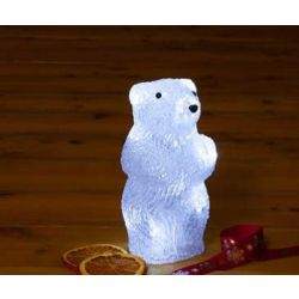Battery Operated 20cm Acrylic Polar Bear