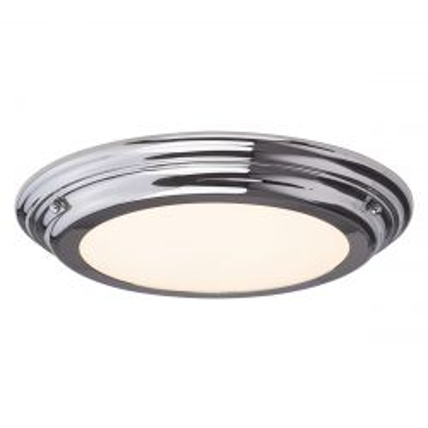 Elstead WELLAND/F PC Welland Polished Chrome 1 Light Medium Bathroom Flush Light