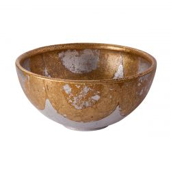 Flambeau FB/BELCHASE BOWL Bellechase Bowl Bellechase Decorative Bowl Gold And Silver Leaf