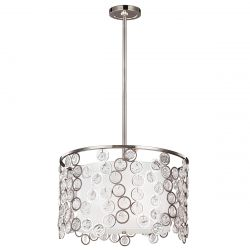 Feiss FE/LEXI/P Lexi 3Lt Pendant Polished Nickel