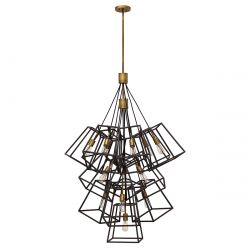 Hinkley HK/FULTON/13P Fulton Bronze 13 Light Large Foyer Chandelier Light