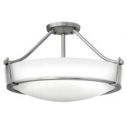 Hinkley HK/HATHAWAY/SFMN Hathaway Antique Nickel 4 Light Medium Semi-flush Light