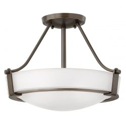 Hinkley HK/HATHAWAY/SFSB Hathaway Olde Bronze 3 Light Small Semi-flush Light
