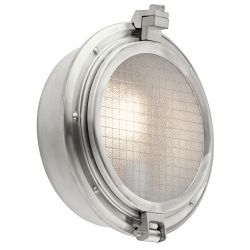 Kichler KL/CLEARPOINT Clearpoint Brushed Aluminum 1 Light Outdoor Wall Light