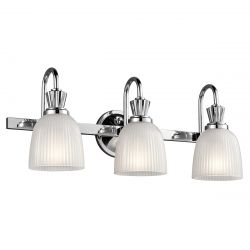 Kichler KL/CORA3 BATH Cora Polished Chrome 3 Light Bathroom Wall Light