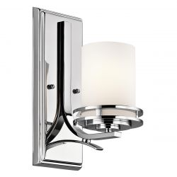 Kichler KL/HENDRIK1 BATH Hendrik Polished Chrome 1 Light Bathroom Wall Light