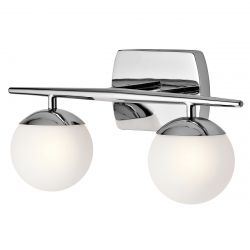 Kichler KL/JASPER2 BATH Jasper Polished Chrome 2 Light Bathroom Wall Light