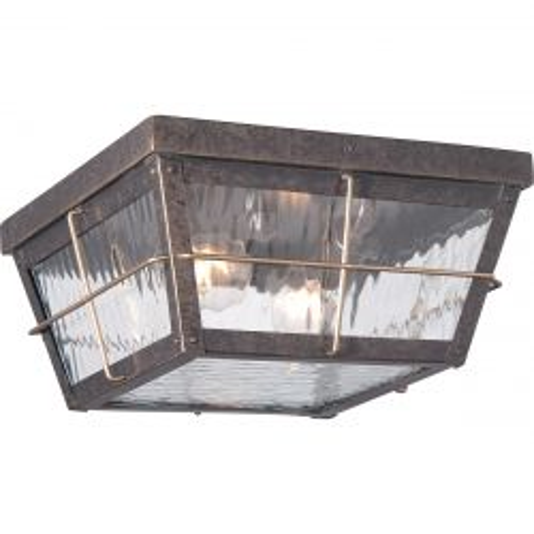 Quoizel QZ/CORTLAND/F Cortland Imperial Bronze 2 Light Outdoor Flush Mount Light