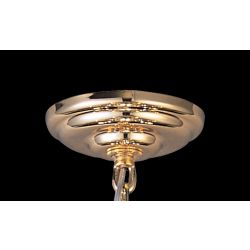 Diyas IL90002 Ceiling French Gold Plate And Bracket