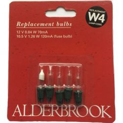 Alderbrook W4 12V 0.84 W 70mA Push in Clear Fairy Lights x4
