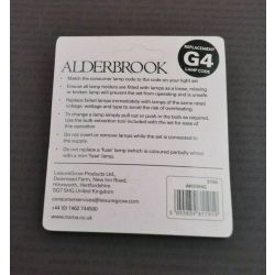 Alderbrook G4 6V 0.72W 120mA Push in Clear Fairy Lights x4