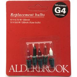 Alderbrook G4 6V 0.72W 120ma Push in Multi Colour Fairy Lights x4