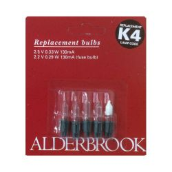 Alderbrook K4 2.5 V 0.33 W 130ma Push in Clear Fairy Lights x4