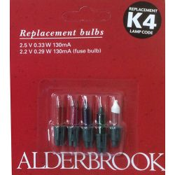 Alderbrook K4 2.5v 0.33W 130mA Push in Multi Colour Fairy Lights x4