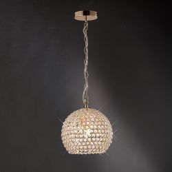 Diyas IL30751 Ava French Gold/Crystal 4 Light Pendant Light