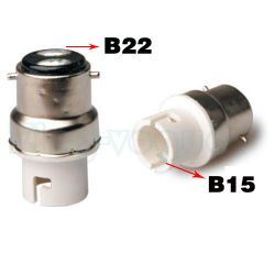 B22 to B15 Lamp Holder Adapter