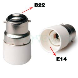 B22 to E14 Lamp Holder Adapter