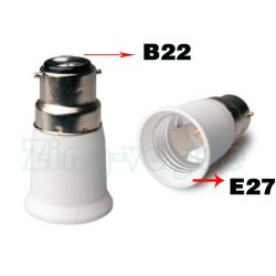 B22 to E27 Lamp Holder Adapter