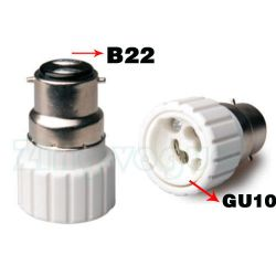 B22 to GU10 Lamp Holder Adapter